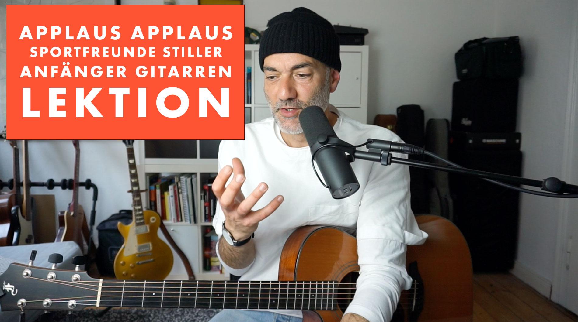 Applaus Applaus – Anfänger Gitarren Lektion